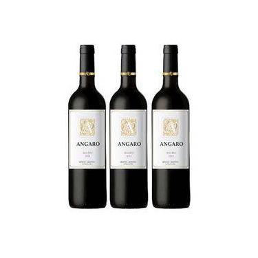 Vinho Argentino Angaro Malbec 750ml 03 Unidades