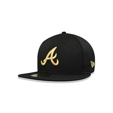 f8704c24eca79 BONE 5950 ATLANTA BRAVES MLB ABA RETA PRETO NEW ERA