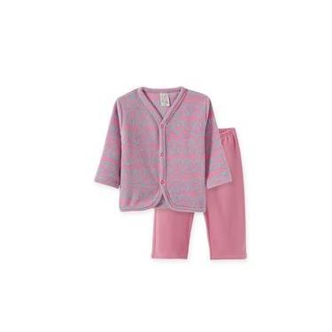 Pijama Infantil Soft Pingo Lelê Coração Rosa