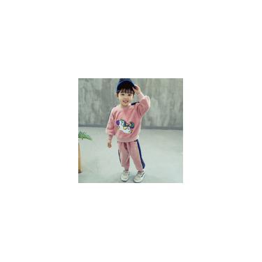Calças de Veludo Dourado Top Calças Meninas Crianças Roupas Quentes de Inverno