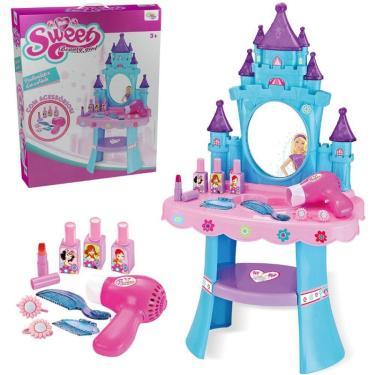 Imagem de Brinquedo Infantil Penteadeira Encantada Acessórios Secador