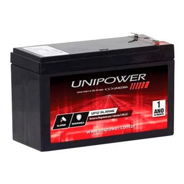 Bateria Selada para Sistemas de Monitoramento e Segurança - 12V / 4Ah - Unipower UP12ALARME