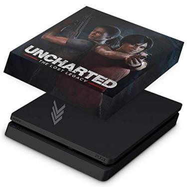 Capa Anti Poeira para PS4 Slim - Uncharted Lost Legacy