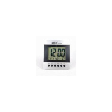 Imagem de Relógio de Mesa Digital Despertador Temperatura Pilhas Le 8113