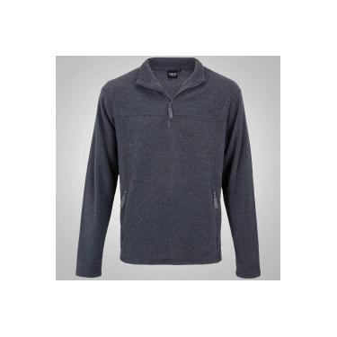 2eed6b3264759 Blusa de Frio Fleece Nord Outdoor Basic - Masculina - CINZA ESCURO Nord  Outdoor