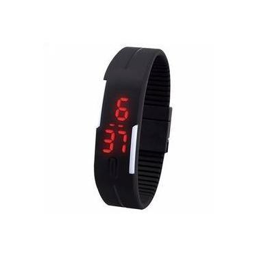 d9a4594d129 Bracelete Relógio Masculino Fem Digital Led Promoção - Preto