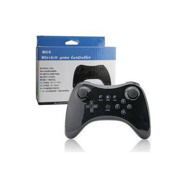 Controle Sem Fio Nintendo Wii U Pro Wireless Bluetooth Preto