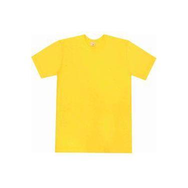 Camiseta básica Pau a Pique Amarelo