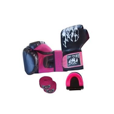 Imagem de Luva Muay Thai Feminino: The Fight 12 Oz +Bandagem +Protetor