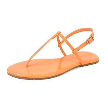 Sandalia Rasteira Mercedita Shoes Verniz Papaya Laranja Ultra Macia AREIA, GELO, BORGONHA ,CARAMELO, LAVANDA, AZUL MARINHO, AZUL DENIN, MARSALA, OPALA, PRETO, UVA, VERDE ÁGUA, PRATA, DOURADA feminino