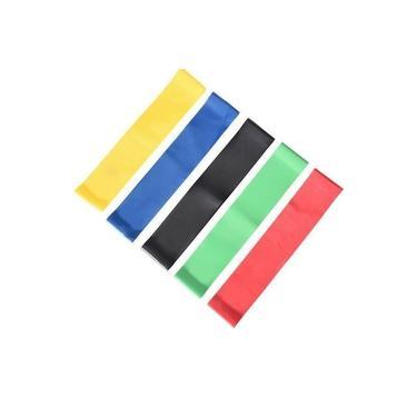 Kit Faixa Elástica Band Extensor 5 Níveis Resistance Belt
