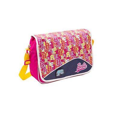 Bolsa Carteiro Barbie Rosa e Amarelo - Sestini