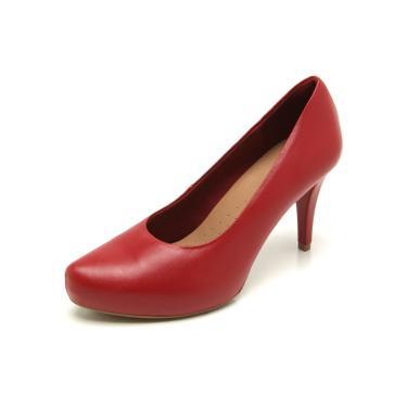 0667f675a Sapato Feminino Scarpin Vermelho Com o Menor Preço: Encontre As ...