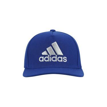 8386275b86 Boné Aba Reta adidas H90 Logo - Snapback - Adulto - AZUL/CINZA CLA adidas