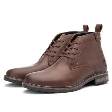 Bota Coturno em Couro Caterpillar Trivalle Shoes Marrom  masculino