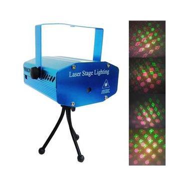 Projetor Laser Holografico Canhao Strobo Efeitos Luzes Festas Natal