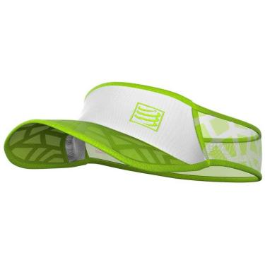 Viseira Compressport Ultralight SPIDERWEB - Branco / Verde