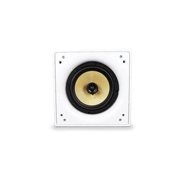 Caixa Acústica quadrada AAT Q6-100KV 1 woofer 6 Kevlar 100W RMS 8 ohms Branco