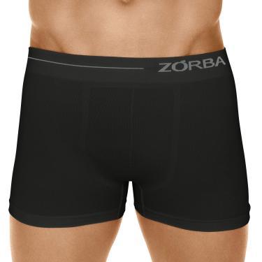 Cueca Boxer Microfibra Side, Zorba, Masculino, Preto, GG