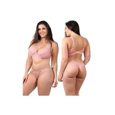 conjunto sem bojo com aro rosa lingerie Isa lingerie
