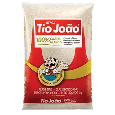Arroz Tio João 100% Grãos Nobres - 1kg