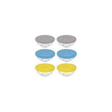 Imagem de Conjunto de Pote de vidro Plus 3L com Tampa Plástica - 6 Peças - Marinex