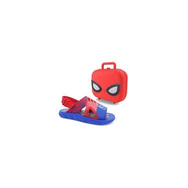 Imagem de Sandalia marvel hero case menino 22505 grendene - azul/vermelho