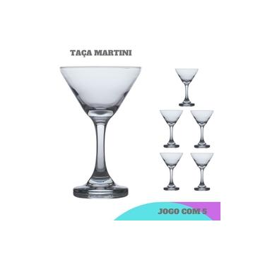 Conjunto 5 Taça Martini Crystal luxo 274 ml Casa linda