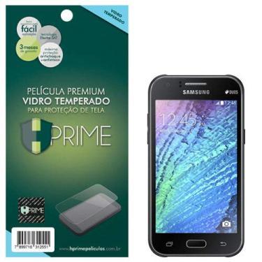 Pelicula de Vidro temperado 9h HPrime para Samsung Galaxy J1, Hprime, Película Protetora de Tela para Celular, Transparente