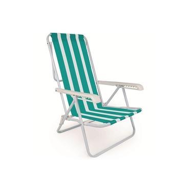 Cadeira de Praia Reclinável Alumínio 8 Posições Sortida - Mor