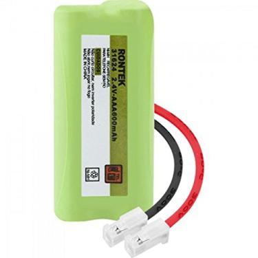 Bateria Recarregável Universal Para Telefone sem Fio NiMh 600mAh 2, 4V, Rontek, UN-2x AAA, Verde