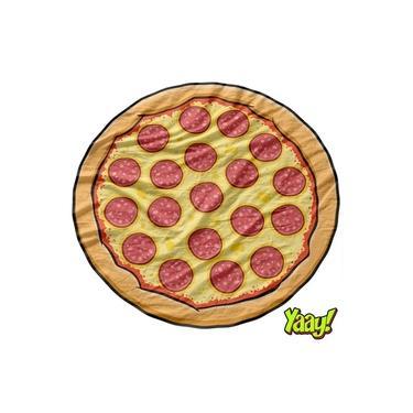 Toalha Canga De Praia Piscina Pizza Divertida Criativa