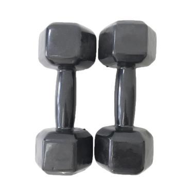 Par de Halter Dumbell Sextavado Revestido Ahead Sports 10 kg Preto