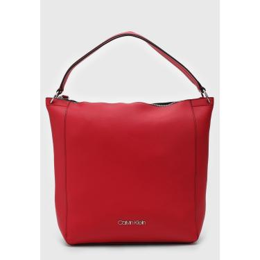 Bolsa Calvin Klein Logo Vermelha Calvin Klein K60K605040 feminino