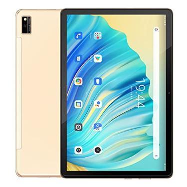"""Imagem de Tab 10 Android 11 Tablet 10,1""""MTK8768 Octa Core 1920x1200 4GB RAM 64GB ROM Rojo 4G 7480mAh tabletas PC WiFi Dual (ouro)"""