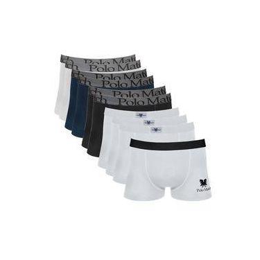 e07b8da7f Kit Com 10 Cuecas Boxer De Cotton - Polo Match