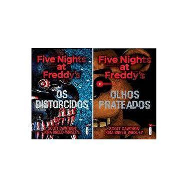 Kit 2 Livros Five Nights At Freddys Prateados Distorcidos