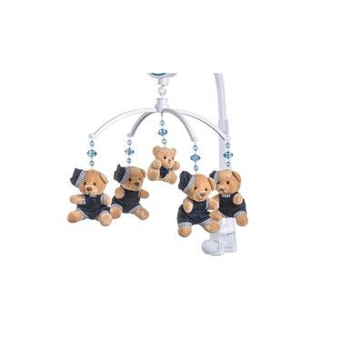Móbile Para Berço Musical E Giratório Urso Boina Azul