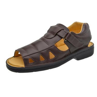 Sandália Terra do Calçado Couro Marrom  masculino