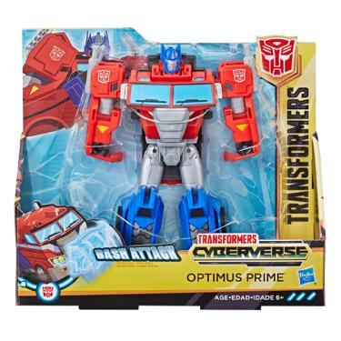 Boneco Articulado Transformers Cyberverse Optimus Prime Bash Attack - Hasbro