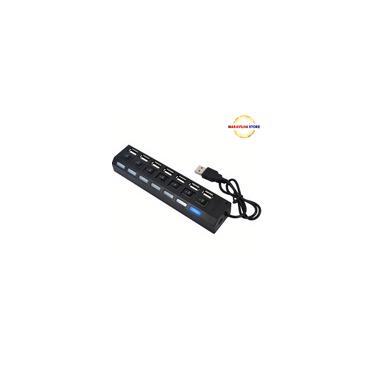 Hub USB 2.0 Extensor USB 7 Portas Switch On/Off Led Indicador 480mbps - maravilhastore