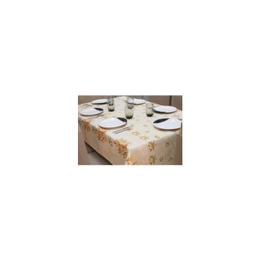 Imagem de Toalha De Mesa Linhão 12 Lugares 3,50 X 1,45 Bouquet Laranja