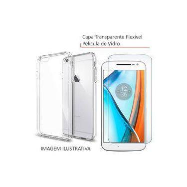 Capa Transparente + Pelicula De Vidro Para Celular Galaxy J1 Mini J105