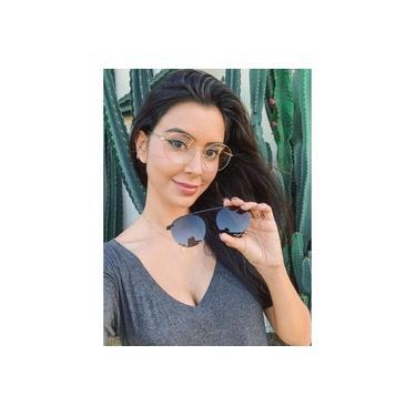 Imagem de Armação Óculos Grau Clipon Sol Feminino Redondo 2 Em 1 Ariel 2.0