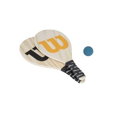 Kit de Frescobol Wilson com Capa em Mesh: 2 Raquetes e 1 Bolinha