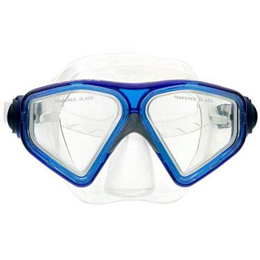 Máscara De Mergulho Cetus New Parma Fun - Transparente Azul
