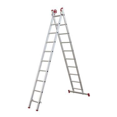 Escada Extensiva Alumínio Botafogo 10 X 2 Degraus