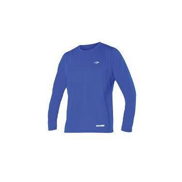 Camiseta Proteção UV Body Fit Mormaii Manga Longa   Azul   G 8dd2112fcbe