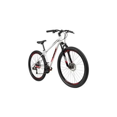 Imagem de Bicicleta Caloi Vulcan, Aro 29, Tamanho 15, 21 Marchas, Branca
