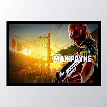 Quadro com moldura max payne weapon